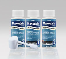Maxogain 4in1 Minoxidil 5% Topical Mens 3x60mL Nutrient Inhibitor Skinsafe