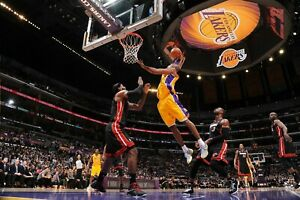 Los Angeles Lakes Kobe Bryant Dunk on Lebron James Poster (24x36) inches
