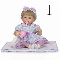 """Hand Knitted Reborn Doll Baby Girl Clothes, for 16"""" Dolls, No Doll Included"""
