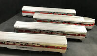 HO Santa Fe Lighted Passenger Coach Observation Tavern Cars 100% Tested Lot N52