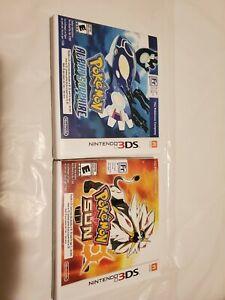 Nintendo 3ds pokemon games lot