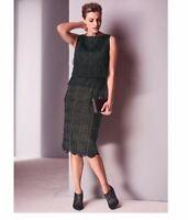 Fringed & Lace Shift Dress by Kaleidoscope UK Size 10 Brand New RRP £65