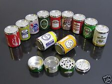 Beer Coke Cans Style 4 PART Alloy Muller Herb Spice Tobacco Grinder Crusher #707