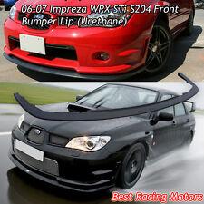 S204 Style Front Bumper Lip (Urethane) Fits 06-07 Subaru Impreza