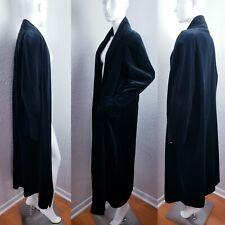 JS Collections Black Velvet Duster Coat Vintage Opera Jacket