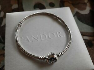pandora moments heart clasp bracelet 21cm