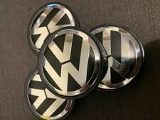 4x VW Volkswagen 56mm Alloy Wheel Centre Caps Golf Polo Fox Beetle 1J0601171