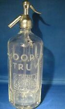 More details for  antique glass honeycomb soda syphon  hooper struve