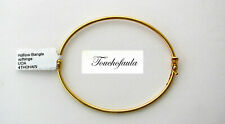 14K Yellow gold High Polished Adorable Oval Bangle Bracelet Made in Italy