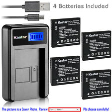 Kastar Battery LCD Charger for Panasonic DMW-BCK7E & Lumix DMC-FH2 Lumix DMC-FH4