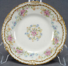 Haviland Limoges Schleiger 1058-7 Double Gold Bows Bread Plate 1895 - 1903