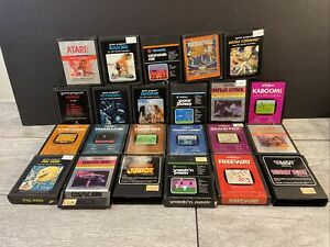Vintage ATARI 2600, Coleco Vision, Activision Imagic Video Games LOT OF 23
