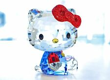 Swarovski Hello Kitty Large Red Bow Blue Sanrio First 5135946 Brand New In Box