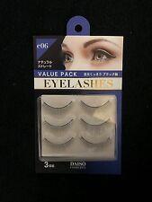 Daiso Japan Value Pack Natural Long Type Eyelash Kit (3 pairs) free shipping!