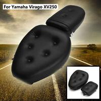 Motorclcye Leather Front Rear Seat Saddle for Yamaha Virago XV250 1988-13 09 10