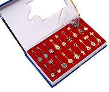 "Fairy Tail 18pcs Star Spirit Keys Pendant Set Collection 2"" New in Box"