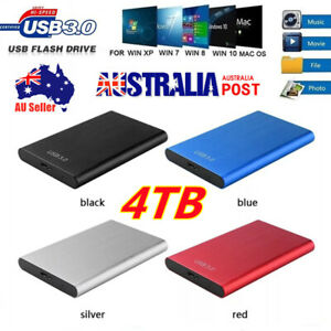 4TB USB 3.0 Portable Mobile Hard Drive Disk External HDD Solid State Laptop Slim
