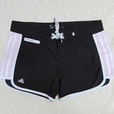 Adidas Junior's Women's Size 7 Black Pink White Board Swim Athletic Shorts