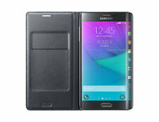 New in Box OEM Samsung Galaxy Note Edge Charcoal Black Wallet Flip Cover Case
