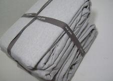 West Elm Light Pale Silver Gray Flannel King Sheet Set New