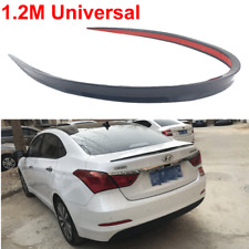 1.2M Flexible Black Soft Car Rear Roof Trunk Spoiler Rear Wing Lip Trim Sticker