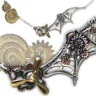 SteamPunk Cosplay Gothic Victorian Daedalus Penna Scientia Pewter Pendant, NEW