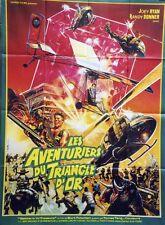 """""""LES AVENTURIERS DU TRIANGLE D'OR (BATTLE FOR THE TREASURE)"""" Affiche originale"""