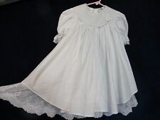 Vintage Peaches N' Cream Girls White Lace Puff Baby Doll Christening Dress 6