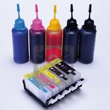 Refillable Ink cartridges Kit for Canon MP620 MP620B MP630 MP640 MX860 MX870