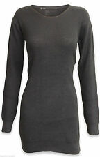 Wallis Patternless Round Neck Long Sleeve Dresses for Women