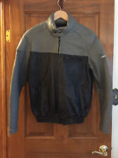Echtes Leder Hestro Men's Size 52 Genuine Leather Gray & Black Motorcycle Jacket