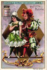 6 Cards c1898 Litho Flower Children Trush Wallflower Nasturtium Clover Puppy