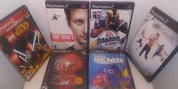 Sony PS2 Lego Star Wars Spiderman 3 Tony Hawk Madden 2003 Kinect 6 Game Lot