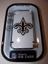 NFL Sports NEW ORLEANS SAINTS Hardshell ICE Case for iPhone 5/5S CLEAR/BLACK