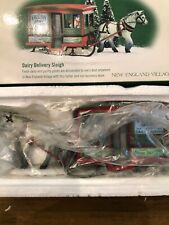 Dept 56 New England Village Dairy Delivery Sleigh. Nib #56.56622