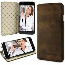 """LEATHER BOOK case for APPLE iphone 6 PLUS (5.5"""") Rustical Antic Brown G2 H1853"""