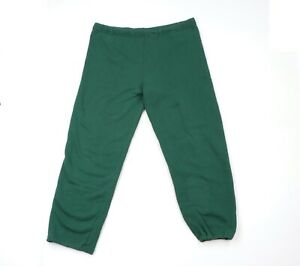 Vintage 90s Russell Athletic Mens XL Blank Sweatpants Joggers Pants Green USA