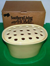 Southern Living Arrange-It-Easy Vase Large Oval Yellow W/ Frog (Discontinued)