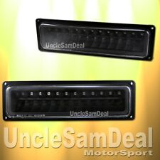 CHEVY C/K TAHOE SUBURBAN AMBER LED CORNER SIGNAL LIGHTS BLACK PLUG AND PLAY PAIR