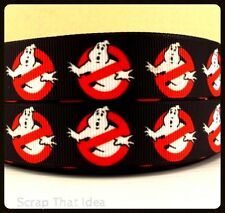 "Ghost Busters  RIBBON.  7/8"" Grosgrain. Scrapbooking/Craft/Bows. Retro 80s Movie"