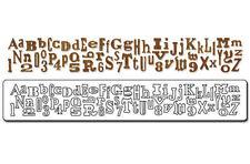 Sizzix die tim holtz alphabet alphabetical scrapbooking sizzlits Cuttlebug