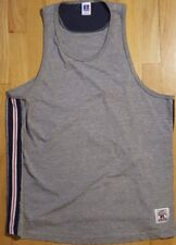Vintage 90s RUSSELL ATHLETIC tank top shirt L gray blank plain trim tshirt