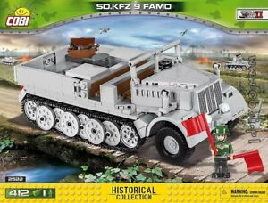 COBI 2522  Sd.Kfz. 9 Famo  blocks WWII Small Army German half - track