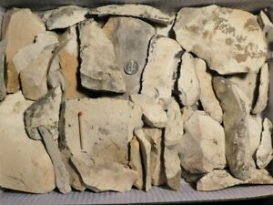 COLLECTION OF 44 NEANDERTHAL MAN FLINT ARTIFACTS >4KGS STONE AGE PALEOLITHIC