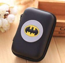Womens Kids Girls Boys Gift Cartoon Batman Mini Coin Purse  Wallet Headset Bag