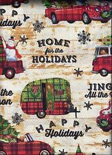 Christmas curtain valance Camper Pickup Dog Tree Holidays