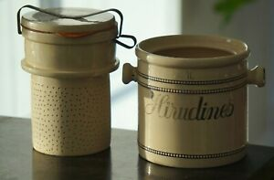 Authentic medical Leech Jar (Blood Letting). Complete, vintage, 100% original.