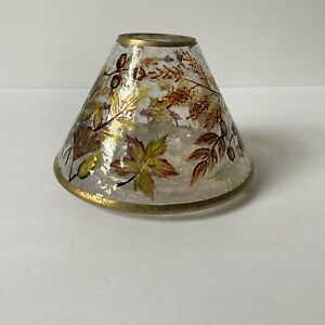 Yankee Candle Autumn Leaves Crackle Glass Shade