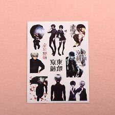 5Pcs Japanese Anime Tokyo Ghoul Kaneki Ken Cosplay Tattoo stickers Tattoo Paper
