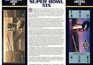 Super Bowl XIX 49ers Dolphins 22kt Gold Ticket Willabee Ward NFL Joe Montana MVP